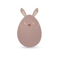 easter rabbit egg vector image