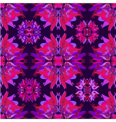 Floral kaleidoscope seamless pattern vector image vector image