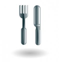 food knife and fork illustration vector image