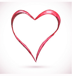 frame-heart-ribbon vector image