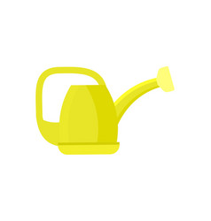 garden watering can isolated icon vector image