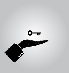 Hand with keys icon vector