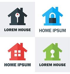 House Logo Design Concepts vector image vector image