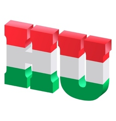 internet top-level domain of hungary vector image vector image