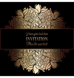 Invitation decorative golds 37 vector