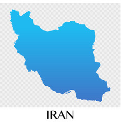 iran map in asia continent design vector image