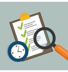 Job interview document design vector