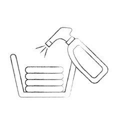 laundry basket with clothes and spray vector image