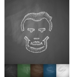 Lincoln icon Hand drawn vector image