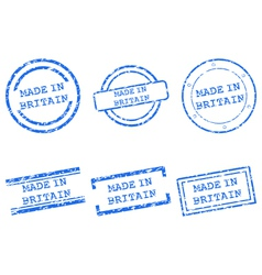 Made in britain stamps vector