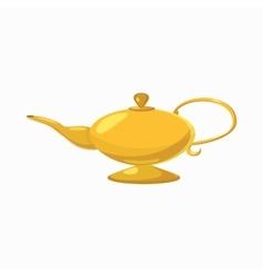 Magic lamp icon cartoon style vector
