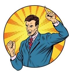 Male speaker politician businessman vector image