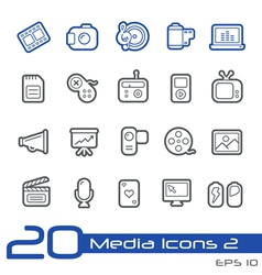 Multimedia outline series vector