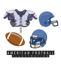 outfit for american football vector image vector image