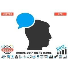Person idea flat icon with 2017 bonus trend vector