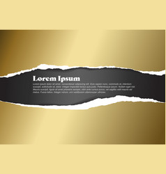 ripped golden paper template vector image vector image