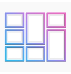 Set of modern photo frames vector image vector image