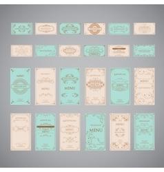 Set of vintage luxury greeting restaurant menu vector