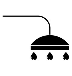 shower the black color icon vector image vector image
