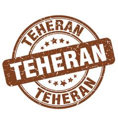 Teheran brown grunge round vintage rubber stamp vector