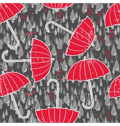 Umbrella and rain wallpaper vector image