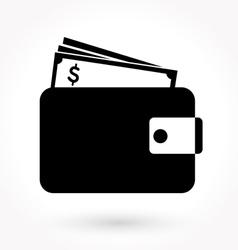 Wallet icon vector