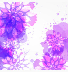 watercolored background vector image vector image