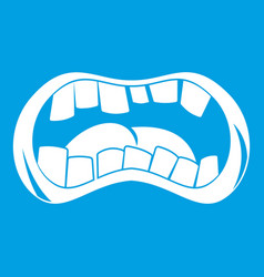 Zombie mouth icon white vector