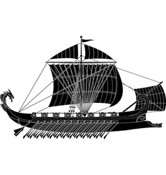 Ancient fantasy ship vector