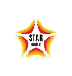 Isolated abstract orange color star contour logo vector