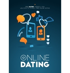 Computer online dating abstract frame composition vector image