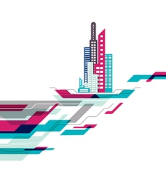 Abstract building background design vector
