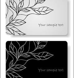 Abstract floral cards vector