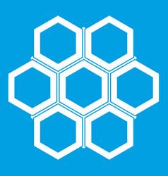 Little honeycomb icon white vector