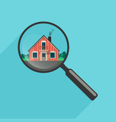 House search with magnifier vector