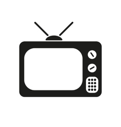 The tv icon television symbol flat vector
