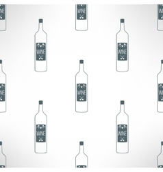 Wine bottles seamless pattern in modern vector