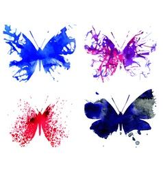 Watercolor butterflies2 vector