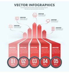 Abstract infographic design element flat style for vector