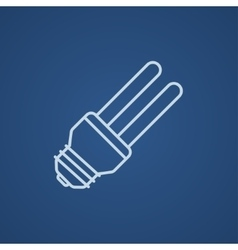 Energy saving light bulb line icon vector