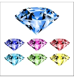 gems and diamonds vector image