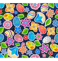 Seamless pattern with easter 2 vector