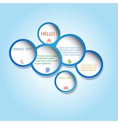 Trendy web design bubbles vector image