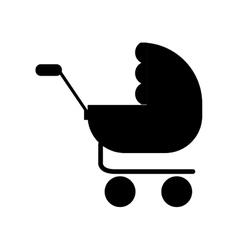 Baby stroller icon vector