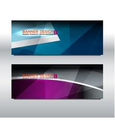 banner violet blue background vector image vector image
