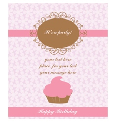 Birthday lace card vector
