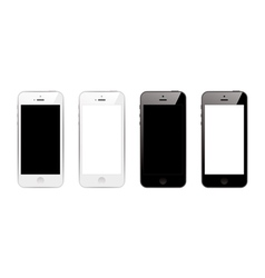black and white smart phones vector image