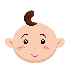 Cute baby cartoon vector
