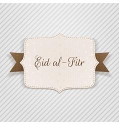 Eid al-fitr decorative festive badge vector
