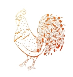 Fire Rooster symbol 2017 by the Chinese calendar vector image vector image
